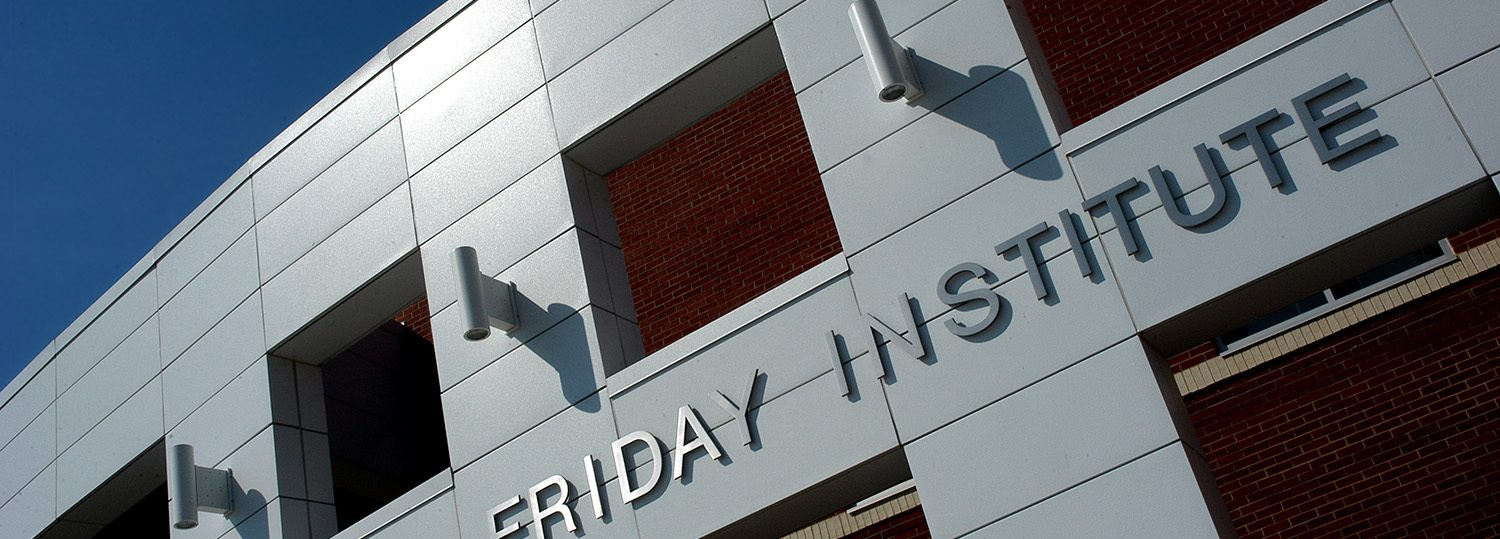 Photo of the exterior of the Friday Institute.