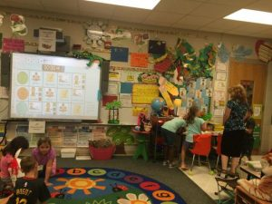 G1 classroom with designed theme