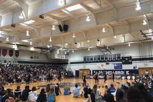 We are attending Pep Rally in the gym
