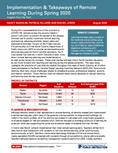 Implementation & Takeaways of Remote Learning During Spring 2020 PDF