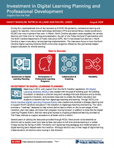 Investment in Digital Learning Planning and Professional Development PDF