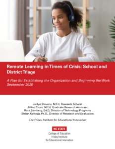 Remote Learning in Times of Crisis: School and District Triage PDF