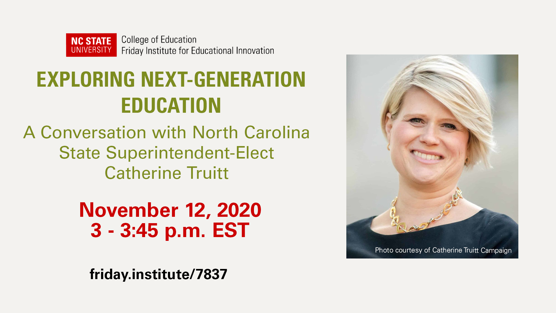 Exploring Next-Generation Education: A Conversation with North Carolina State Superintendent-Elect Catherine Truitt
